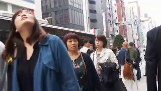 東京 銀座 中国人観光客の団体.