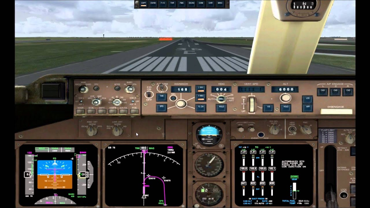 Boeing 747 PMDG FSX tutorial en español despegue
