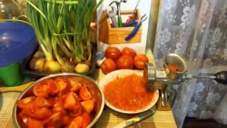 ★ Как сделать томатный сок без соковыжималки.Заготовки сока из помидоров на зиму. Винтик и Шпунтик.