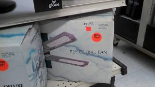 Vintage Ceiling Fans For Sale In A Hardware Store