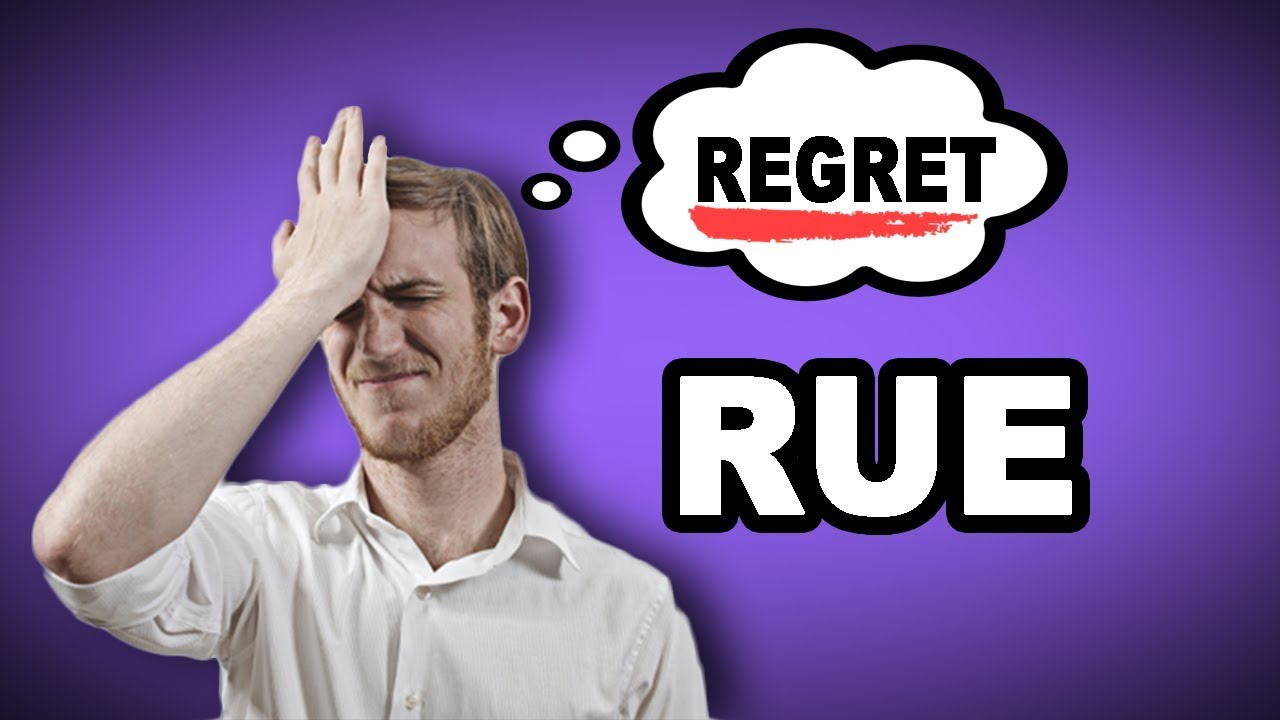 Learn English Words: RUE - Meaning, Vocabulary with Pictures