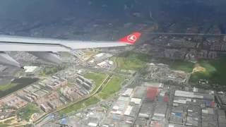 turkish airlines a330 bogota take off first o b video uploaded