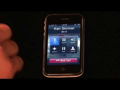 iPhone Basic Functions : How to Use the iPhone Speakerphone streaming vf