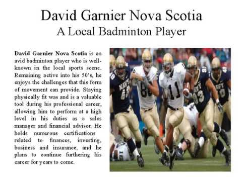 David Garnier Nova Scotia   Businessman and Sports