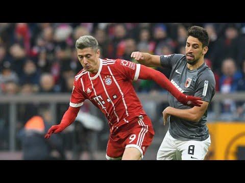 ●»Robert Lewandowski 2 amazing goals vs Augsburg 18/11/2017«●