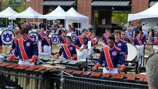 Auburn drumline lot 2018 Video Game show with Remo