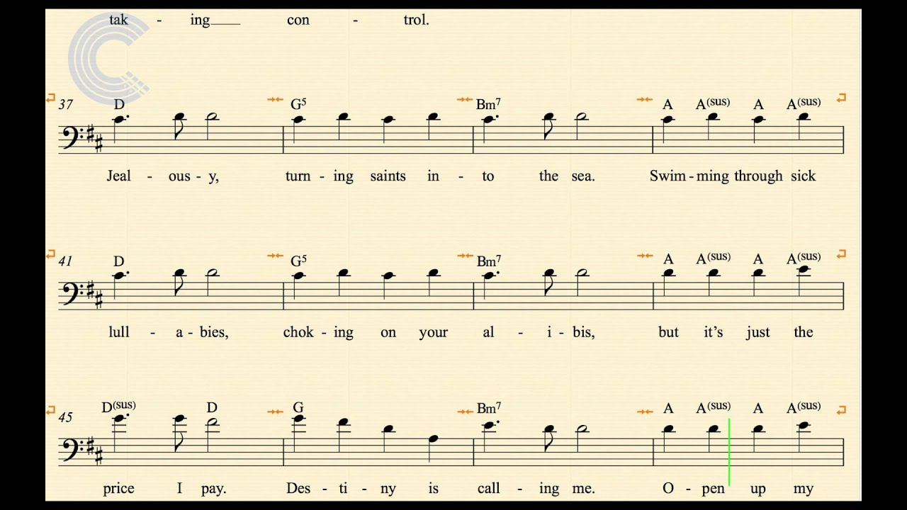 Bass Mr Brightside The Killers Sheet Music Chords Vocals