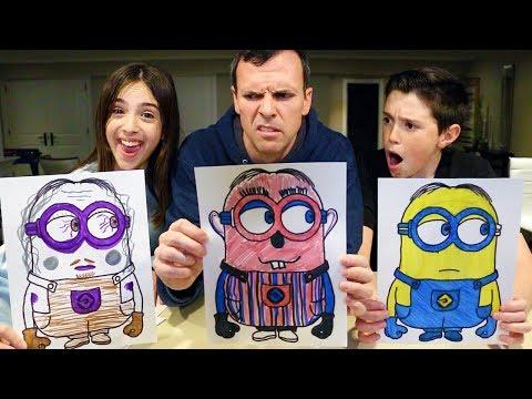 3 MARKER CHALLENGE - Minion, Spongebob & Peppa Pig Edition
