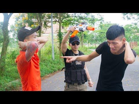 Nerf War: Five Martial Artist Nerf Battle The Enemy Battle Gold NERF MOVIES