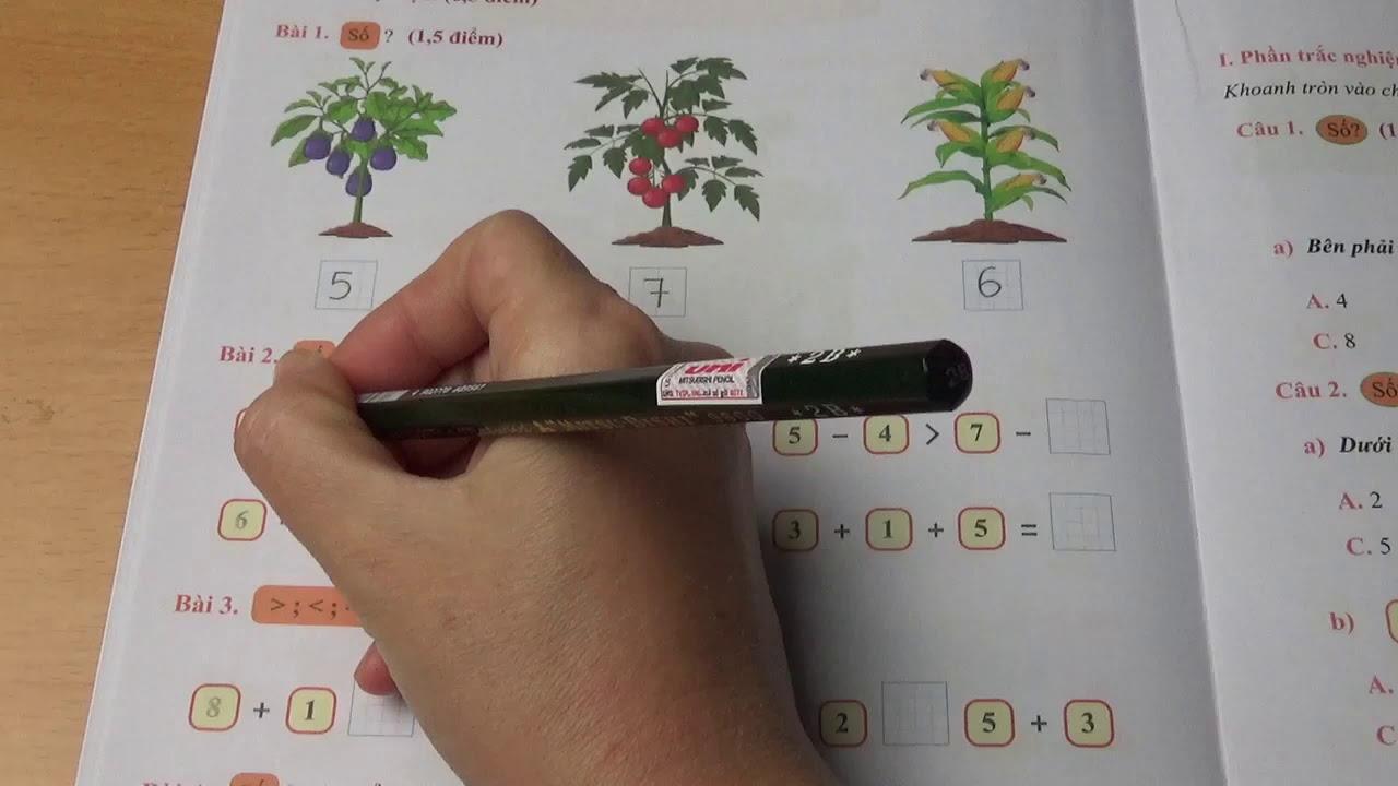 Toán Lớp 1: Đề Thi Cuối Học Kì 1 Đề Số 04 #mshanh #toanlop1