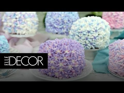 You Need To See The Trick To Creating This Stunning Hydrangea Cake! | ELLE Décor