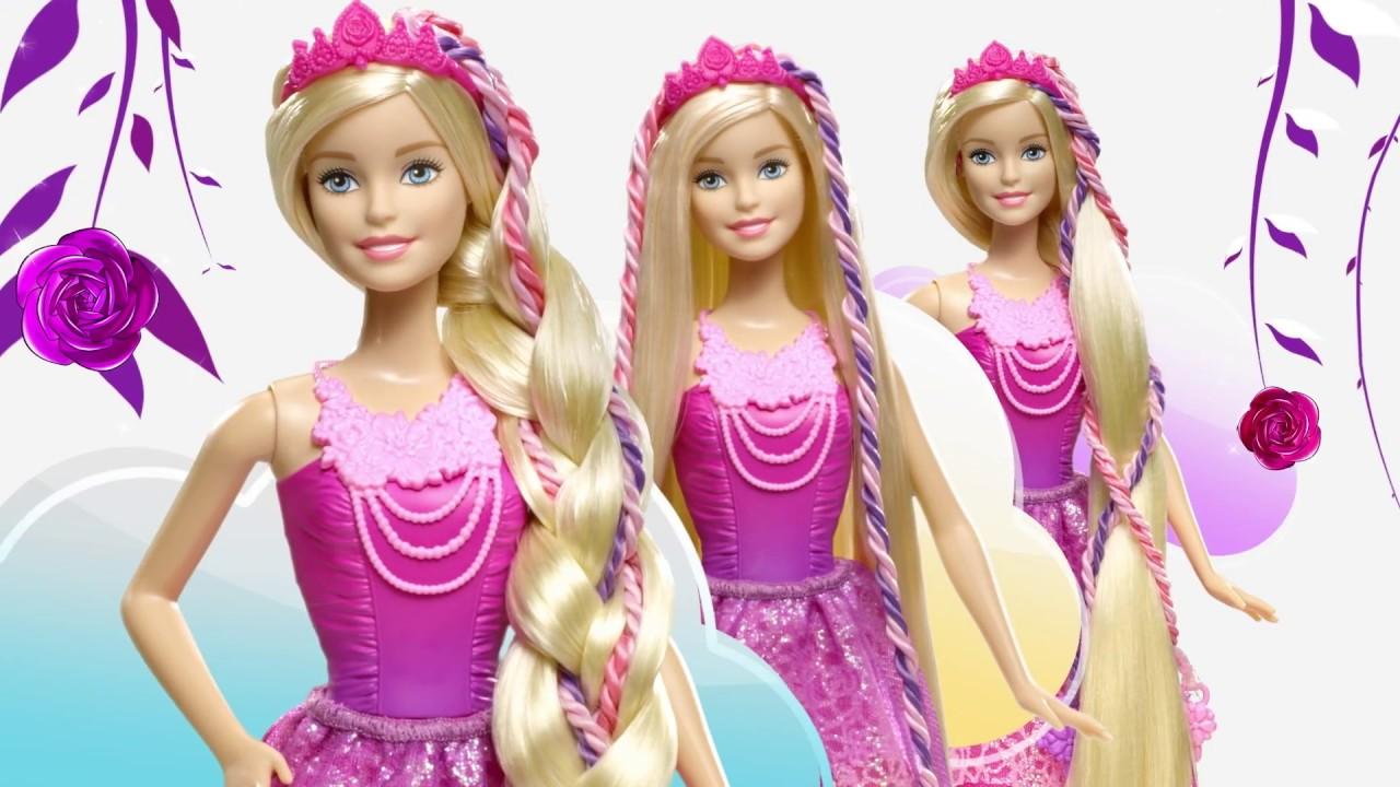 Barbie dreamtopia sir ne couleurs et lumi res dhc40 princesse tresses magiques dkb62 youtube - Barbie sirene magique ...