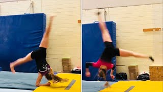 6 Monate Training 😅 meine Fortschritte💪 Motivations Video Salto, Flick Flack, Aerial...Compilation