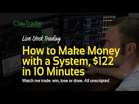 Thumbnail: Live Day Trading - How to Make Money with a System, $122 in 10 Minutes