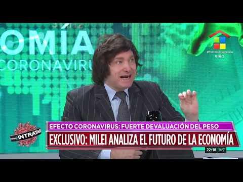 """Milei: """"Argentina camina a la peor crisis económica de su historia"""""""
