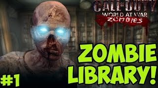 """THE UNDEAD ZOMBIE LIBRARY!"" - Custom Zombies ""LIBRARY"" PART 1 (CoD WaW Custom Zombies)"