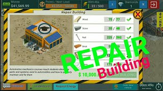 Repair Building - Junkyard Tycoon