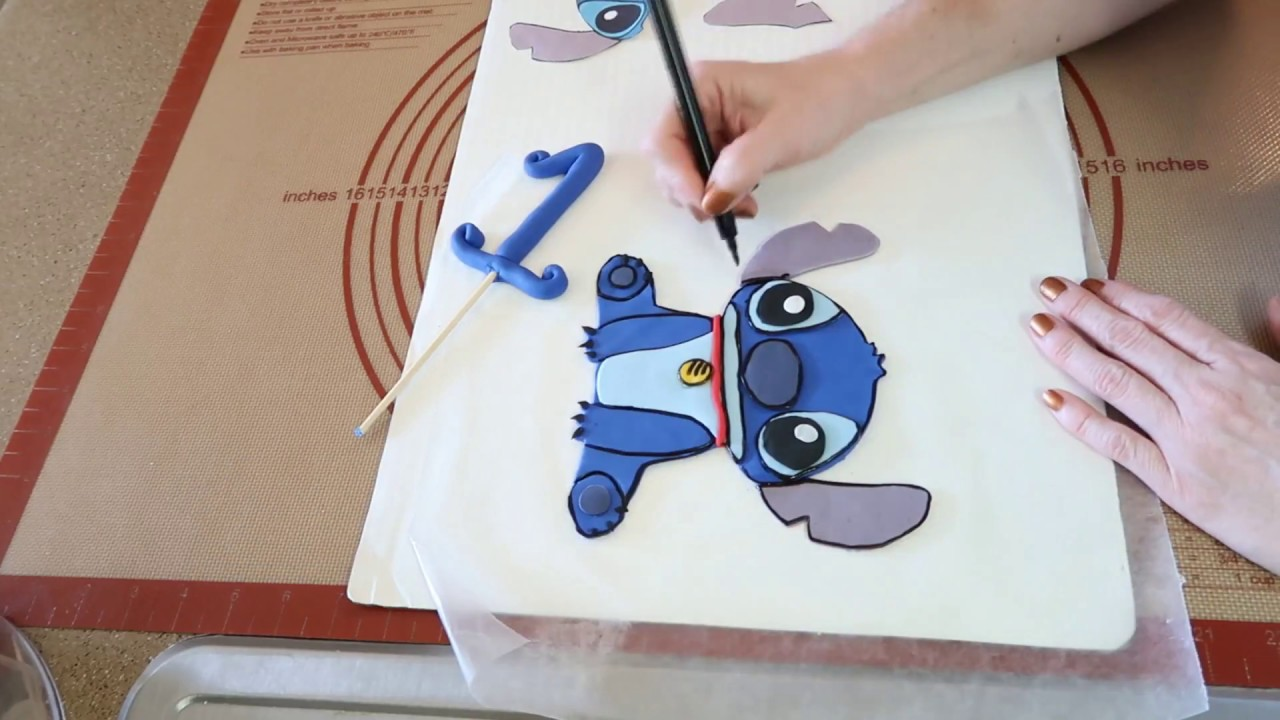 Stitch Cake Topper Stitch Cakes Party Ideas Diy How To Youtube