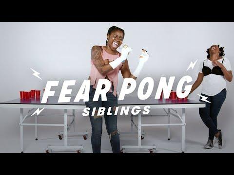 Siblings Play Fear Pong (Vanessa vs. Natalie) | Fear Pong | Cut