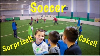 WE SURPRISE A SUBSCRIBER and PLAY INDOOR SOCCER