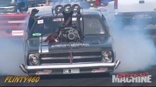 "TOP FUEL ENGINE BURNOUT CAR ""HK-8000"" AT SUMMERNATS 30"