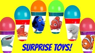 Finding Dory Balloon Toy Surprise Cups! Disney Toys! Figural Keyrings & Secret Life of Pets