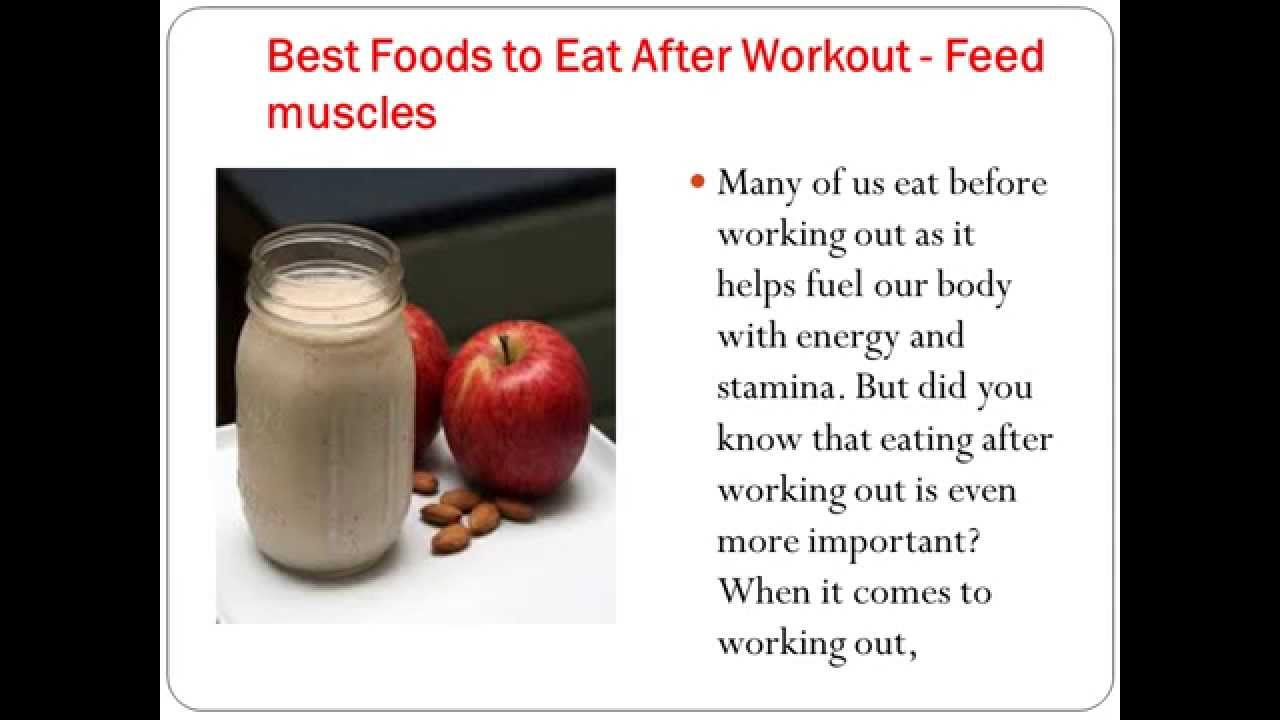 What Best Foods to Eat After Workout - Feed & gain muscles ...