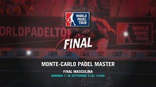DIRECTO - Final Masculina Monte-Carlo Padel Master 2016   World Padel Tour