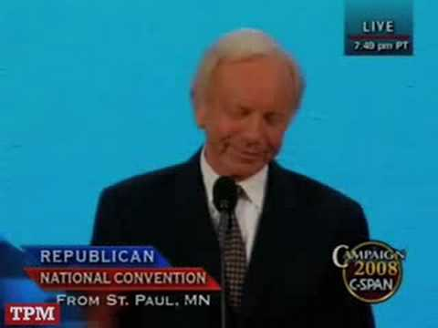 Sen. Lieberman Speaks At The RNC