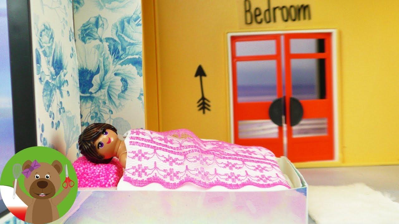DIY Playmobil Luxus Villa | sypialnia Stelli | tapeta, dywanik i naklejki na ścianę