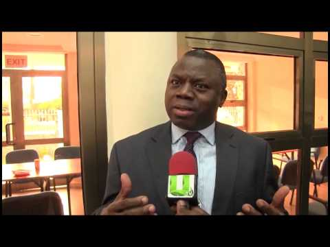 Mr. Alhassan Andani, BPI Board Chairman speaks to UTV after the BPI 3rd Anniversary Lectures