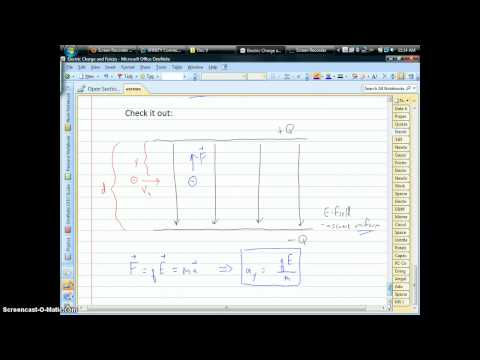 Projectile Motion with Charged Particles