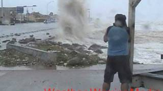 Hurricane Ike Galveston, Texas Seawall Video