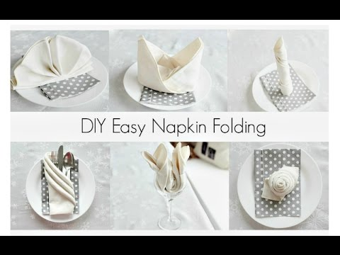 EASY Napkin Folding Tutorials For Beginners!