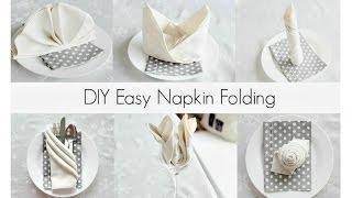 EASY Napkin Folding Tutorials for beginners!