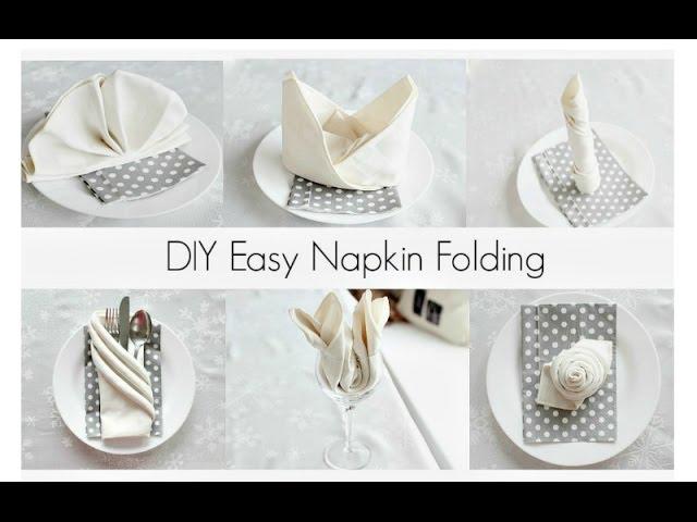 Easy Napkin Folding Tutorials For Beginners Youtube