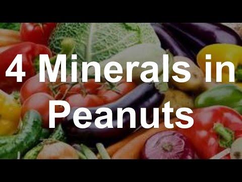 4 Minerals in Peanuts - Health Benefits of Peanuts