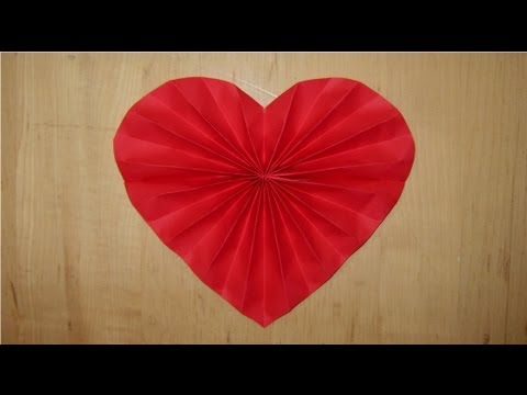 how to make a valentine heart out of paper