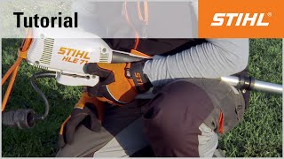 Fixing the power cord: How to reduce the STIHL HLE 71 long-reach hedge trimmer's cable tension