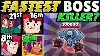 Brawl Stars OLYMPICS 2! | The BOSS Test! | Which Brawler Has the FASTEST DPS?!