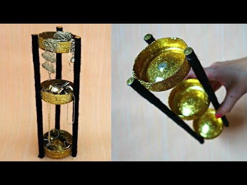 How to make jewelry organizer | DIY jewelry stand from plastic bottle | Recycled crafts ideas