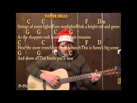 Silver Bells (Christmas) Strum Guitar Cover Lesson with Lyrics Chords - Play and Sing