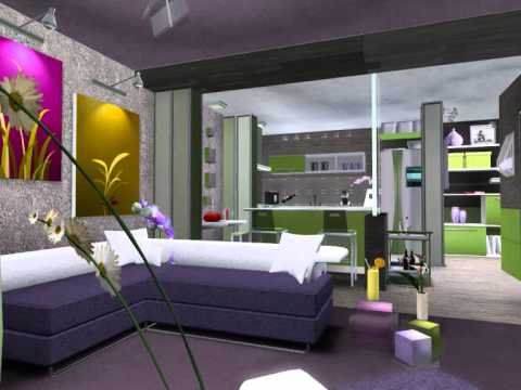 sims 3 late night apartment design (LIME LUXURY) - YouTube