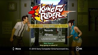 Kung Fu Rider PS3 Playthrough - A Nintendo Wii Game With HD Graphics