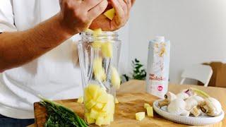 Быстрые блинчики из картошки с грибами на завтрак