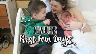 FIRST 24 HOURS WITH A NEWBORN | BROTHER MEETS NEWBORN BROTHER FOR THE FIRST TIME!