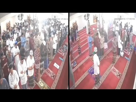 CCTV Rekam Detik-detik Gempa Guncang saat Jemaah Salat Maghrib, Sebagian Berhamburan