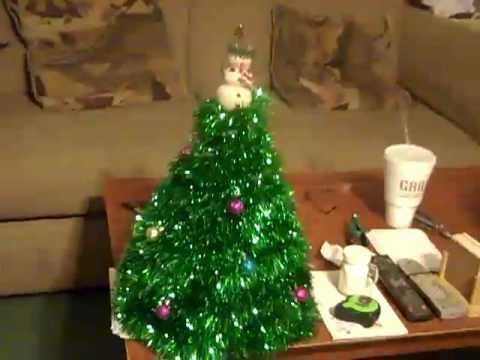 home made christmas tree youtube