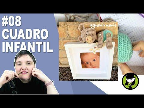 CUADRO INFANTIL AMIGURUMI 8 paso a paso