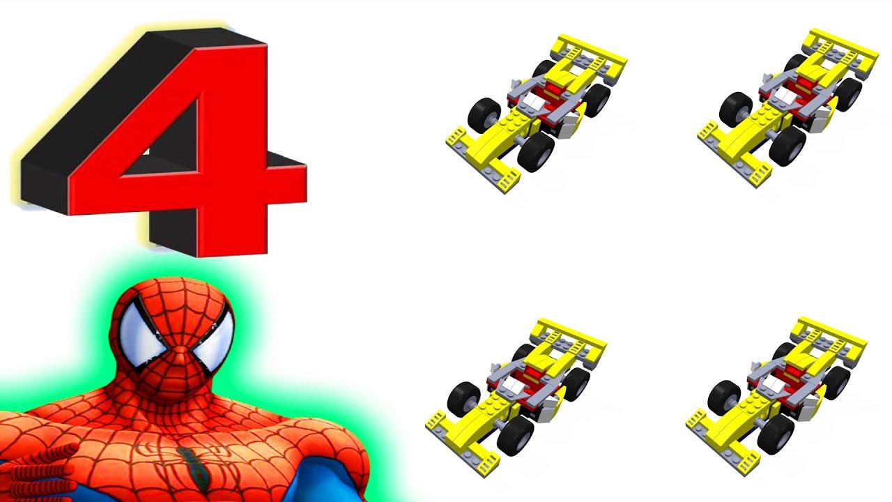 Numerot Oppia Lasten Lego Keltainen Auto Videot Spiderman Youtube